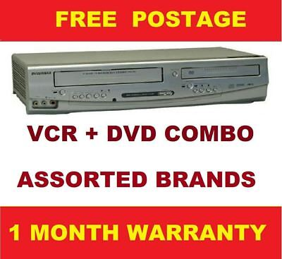 Vcr dvd combo+ warranty VCR player + Video Recorder assorted brands + cable