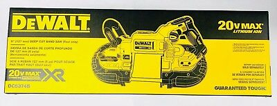 "DEWALT 20V MAX XR Cordless Li-Ion 5"" Band Saw (Bare Tool) DCS374B New in Box"