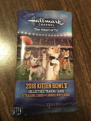 2018 Kitten Bowl V Collectible Trading Cards Super Bowl 52 - Hallmark Channel