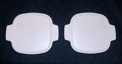"2 NEW Corning Ware LIDS 7"" A-1-PC Plastic Replacement FIT 1 Qt, 1.5, 1 3/4 Qt MC"