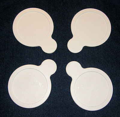 4 NEW Corning Ware GRAB IT LIDS P-150 White Plastic Storage Lids Cover FREE SHIP