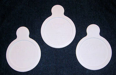 LOT of 3 NEW Pyrex Corning Ware P-150-B White Plastic Grab It LIDS FREE SHIPPING