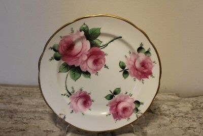 Pink Cabbage Rose SALAD PLATE T. GOODE & CO LTD BONE CHINA - London England
