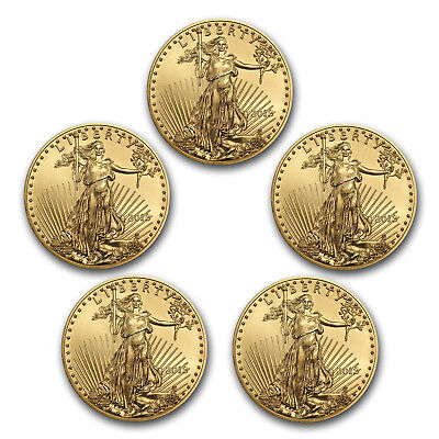 Bank Wire Payment. 2018 1 oz Gold American Eagle BU (Lot of 5) - SKU #162738