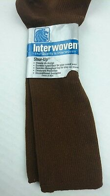 NEW Vintage Interwoven Mens 10- 13 Brown Shur Up Socks Shoe 6 - 12 USA