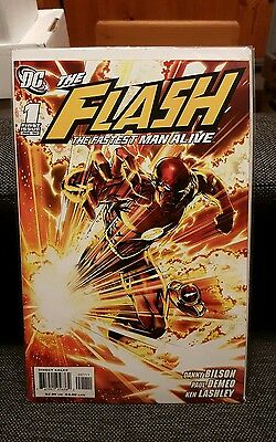 The Flash 1 Set The Fastest Man Alive 1st Print and Kubert 1:10 Variant