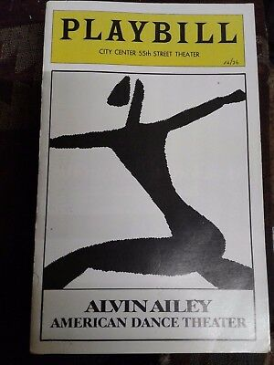 1976 VINTAGE Playbill Alvin Ailey American Dance Theatre City Center 55th St.