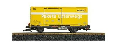 LGB - LL47890 - (D)RhB CONTAINER POST CAR G SCALE