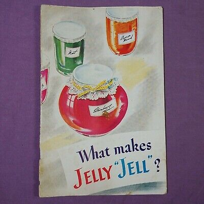 """ta What Makes Jelly """"Jell"""" Vintage Cookbook Booklet Pamphlet"""