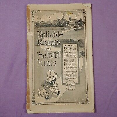 ta Reliable Recipes & Helpful Hints Vintage Cookbook Booklet Baking Powder Ad