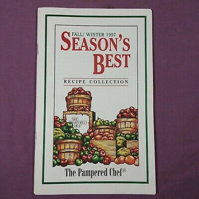 ta Fall Winter 1997 Seasons's Best Recipes Vtg Cookbook Booklet Pampered Chef