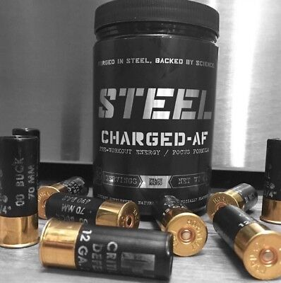 Steel Supplements Charged AF Pre workout USA | OxyShred | C4 | Blackstone