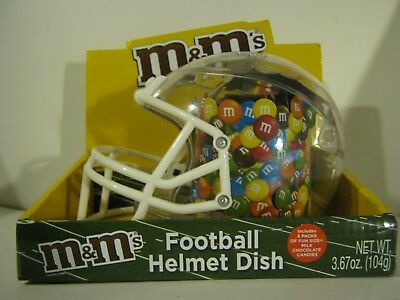 M&Ms Football Collectibles Candy Helmet & Football Dishes One Each NIP 2 Items