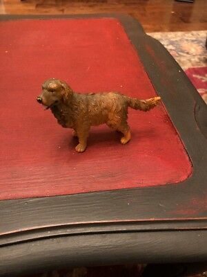 Vintage Dollhouse Miniature Sculpted Resin Collector Figurine Golden Retriever