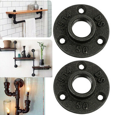 10Pcs 3/4'' Malleable Threaded Floor Flange Iron Pipe Fittings Wall Mount DO