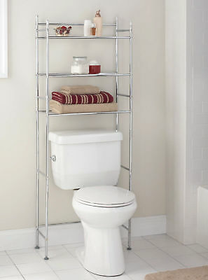 Outstanding Mainstays 3 Shelf Bathroom Space Saver Chrome Finish Home Interior And Landscaping Staixmapetitesourisinfo