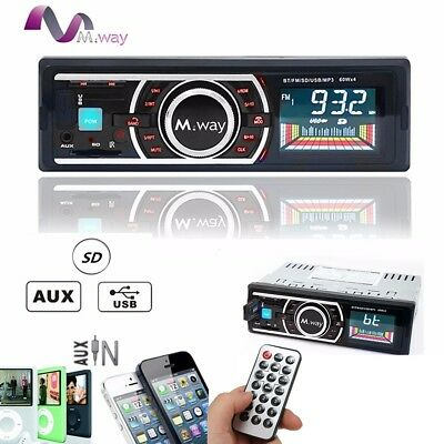 Bluetooth Car In-Dash FM Radio Stereo Audio Receiver SD USB Aux-In MP3 Player US