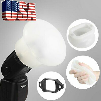 US Selens Magnetic Flash Modifier Sphere Diffuser Bounce AND  Rubber Band Kit