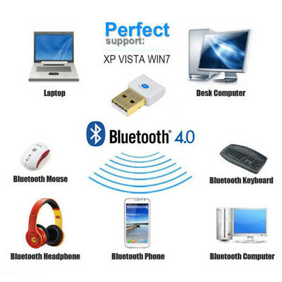 Mini Bluetooth V4.0 USB 2.0 Dongle Wireless Adapter For PC Laptop 3Mbps