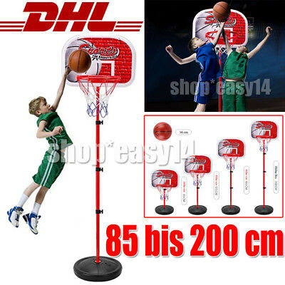 Kinder Basketball SET + Basketballkorb + Basketballständer +Pumpe+ Ball 85-200cm