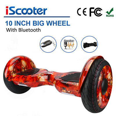 10 Zoll BLUETOOTH Hoverboard Elektro Self Balance Scooter Roller Overboard +APP