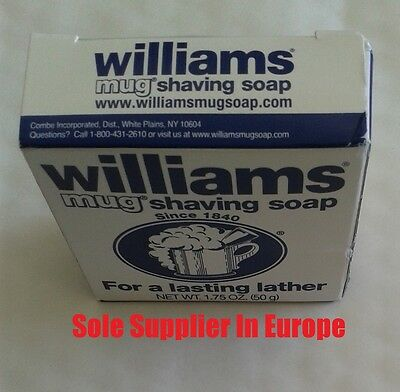 50g Williams Mug Shaving Soap -Traditional American Product - Made In USA