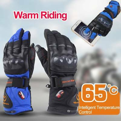 Winter Electric Heated Motorcycle Gloves Rechargeable 5600MAh Battery Waterproof
