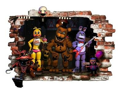 FNAF Five Nights At Freddy's Wall Decal Stickers Art Decor Vinyl Mural 57cmx78cm