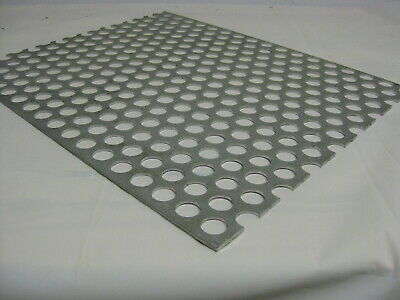 """Perforated Metal Aluminum Sheet .125 1/8"""" 12"""" x 48"""" 3/4"""" hole 1"""" Stagger 3003"""