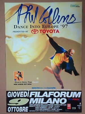 original PHIL COLLINS promo poster DANCE INTO THE LIGHT TOUR 1997 (BA.353)