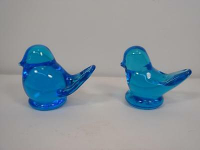 Lot 2 Vintage Ron Ray Miniature Blue Birds 1989 & 1994 Signed Great Condition