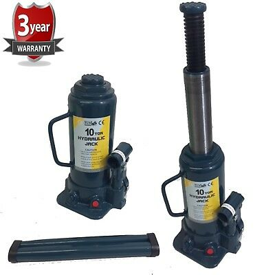 10 ton tonne Hydraulic Telescopic Low profile Bottle Jack Car Van Tractor Truck