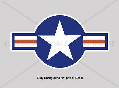 WW 2 USAF US Air Force Roundel Military Aircraft Fighter Bomber Insignia Decal