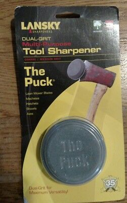 LANSKY The Puck DUAL GRIT Knife Tool SHARPENER! LPUCK