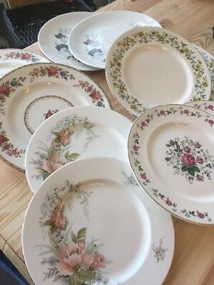 Vintage China Dinner Plates X 10 Job Lot / Wedding / Party / Tea Room & VINTAGE CHINA Dinner Plates X 10 Job Lot / Wedding / Party / Tea ...