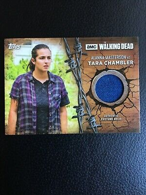 2017 Topps Walking Dead Season 7 Screen Worn Shirt Costume Relic Tara Chambler