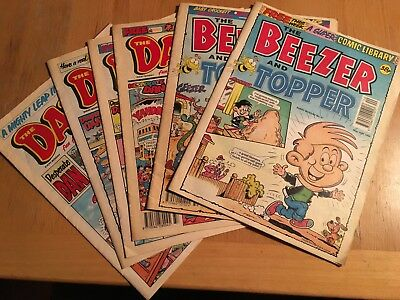 The Beezer and The Topper and The Dandy Comics - 6 Copies 1992,1993 and 1997