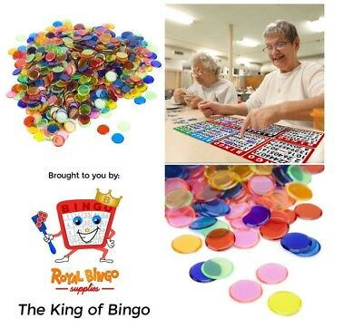 1000 Pack Bingo Chips Mixed Toy Game Piece Board Part Card Family Fun Color NEW