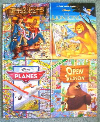 Lot of 4 Children's Hardcover Big 10 X 12 Look and Find Books