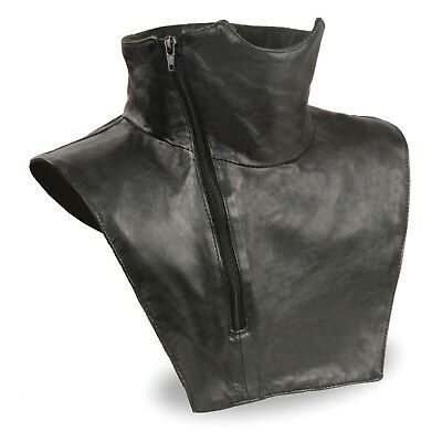 Unisex Premium Leather Neck Warmer W/ Zipper Closure & Fleece Liner  **SH165