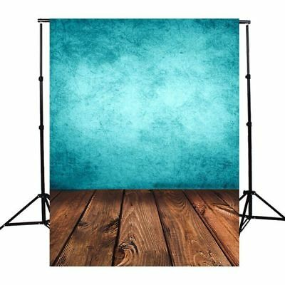 Blue Board Wood Photography 3x5FT Background Backdrop Studio Photo Prop US