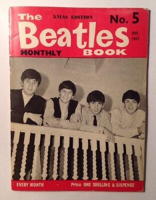 BEATLES ORIGINAL MONTHLY MAGAZINE DECEMBER 1963 No 5 VERY GOOD CONDITION