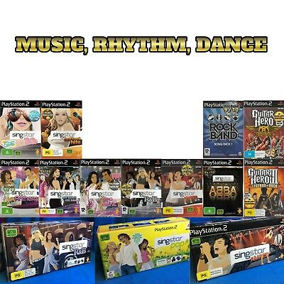 Game Selection PS2 🎧🎤🎸🥁 MUSIC / SINGING / DANCE / BAND 🥁🎸🎤🎧 25/02/18