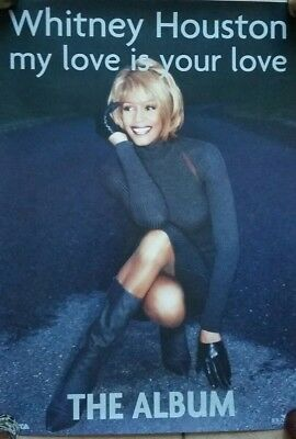 Whitney Houston 1998 Uk  Promotional Poster - My Love Is Your Love