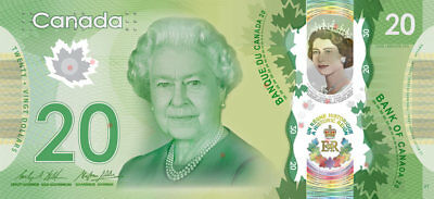 CANADA/CANADIAN New $20 Polymer Banknote ISSUE of 2015 Commemorative (Gem UNC)