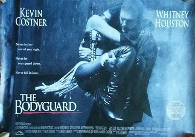 WHITNEY HOUSTON 1992 THE BODYGUARD Original Quad Poster , Warner Brothers Issue