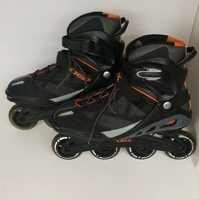 DBX Roller Blades Hockey  Inline Skates Black Orange Abec 7 Bearings Mens 12