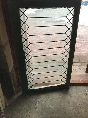 Sg 1886 antique geometric design transom window 25 x 40.5