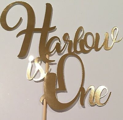 Personalised Custom Party Cake Topper 1st Birthday One 1 Add Your Name And Age