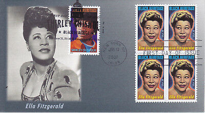 2007 First Day Cover Fdc Ella Fitzgerald Black Heritage Shirley Chisholm Dual Ca